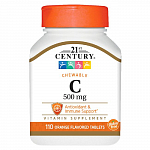 21st Century Chewable Vitamin C 500 mg, 110 таб