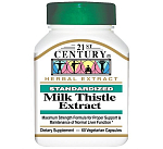 21st Century Milk Thistle Extract, 60 капc